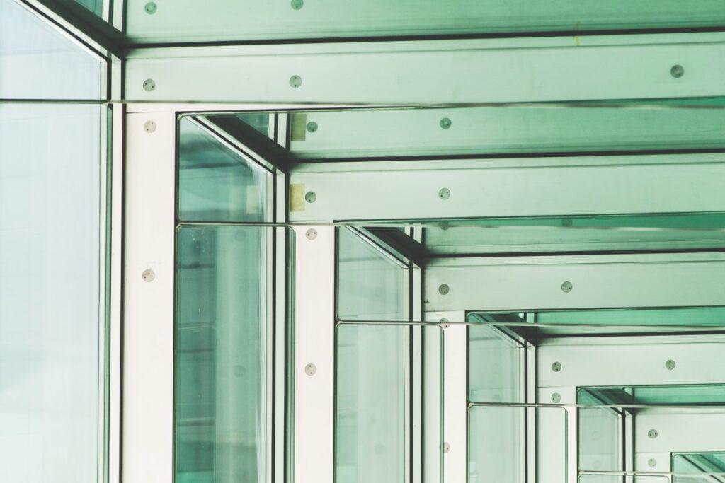 Green glass, modern space