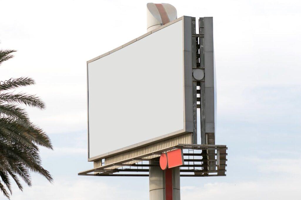 empty billboard awaiting an advertisement