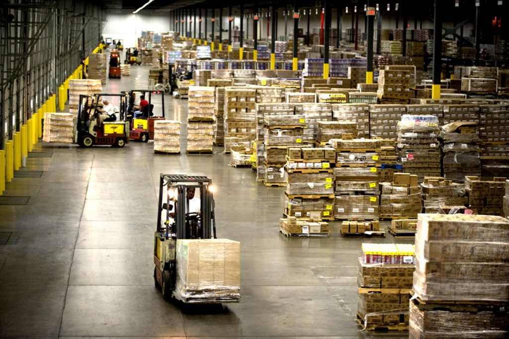 Warehouses are an important part of the supply chain.