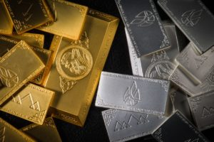 Gold and Silver Crypto bars